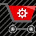 cart, ecommerce, option, settings, shopping icon