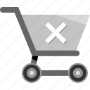 cart, cross, ecommerce, shopping, stop icon