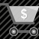 cart, dollar, ecommerce, money, shopping, sign icon