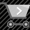 cart, ecommerce, go, next, shopping icon