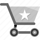 cart, ecommerce, favorite, shopping, star icon