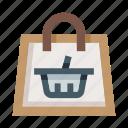 shopping, cart, basket, bag, shop, ecommerce, store