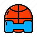 ball, barbells, basketball, category, online, shop, sports icon icon