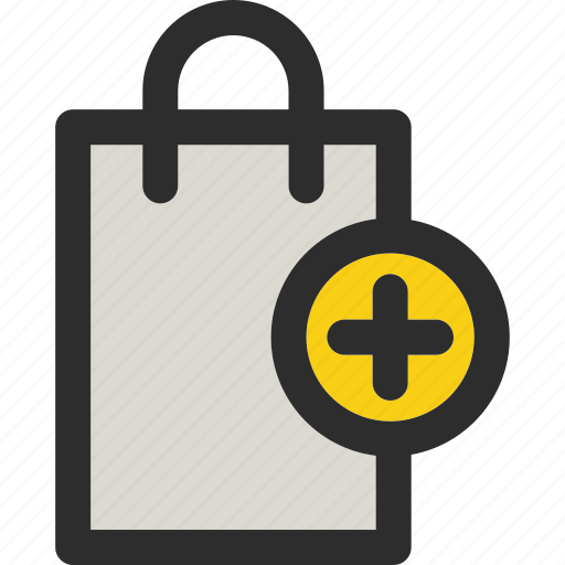 add, bag, buy, plus, shop, shopping, shoppingbag icon