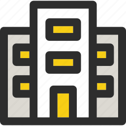 apartment, big, building, home, shop, shopping icon