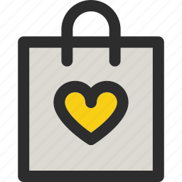 bag, favorite, heart, like, package, shop, shopping icon