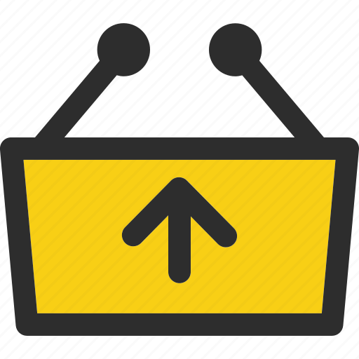 basket, cart, ecommerce, online, out, remove, shopping icon