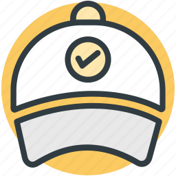 baseball cap, cap, check sign, infographic element, sports cap icon