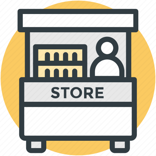Exhibition Stall Icon Png : Booth food stand kiosk stall store icon search