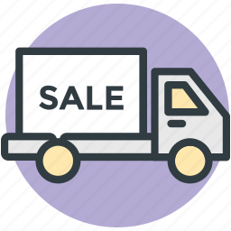 commercial transport, delivery van, distribution, marketing, sale icon
