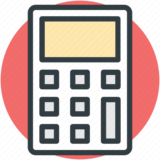 accounting, calculating device, calculator, mathematics, office supplies icon