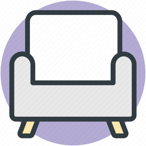 chair, couch, furniture, settee, sofa icon