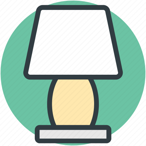 bedside lamp, electric lamp, interior decoration, lamp, table lamp icon
