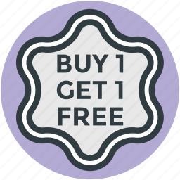 buy one get one free, customer offer, sale offer, shopping element, special offer icon
