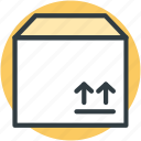 delivery box, package, packed box, parcel, sealed box icon