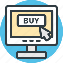 buy, cyberspace, e shopping, mouse cursor, online shopping icon