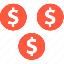 coins, dollar, ecommerce, online, shop, shopping icon