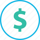 dollar, ecommerce, online, pay, shop, shopping icon