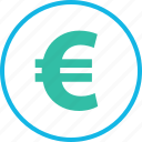 ecommerce, euro, money, online, pay, shop, shopping icon
