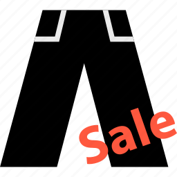 ecommerce, jean, online, sale, shop, shopping, sign icon