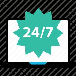ecommerce, online, open, shop, shopping, sign, twentyfour icon