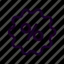 badge, percent, sale icon