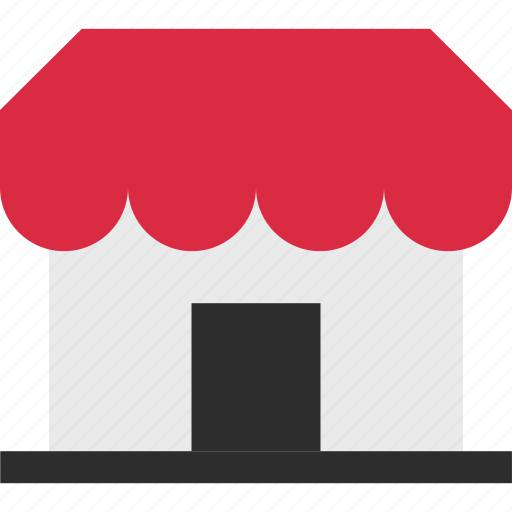 business, ecommerce, front, open, shop, shopping icon