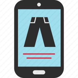 cell, ecommerce, jeans, pants, phone, shop, shopping icon