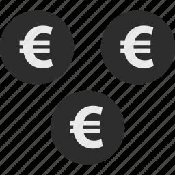 coins, ecommerce, euro, money, shop, shopping icon