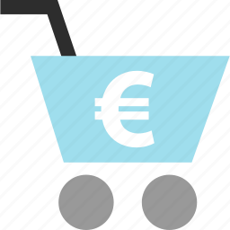 add, cart, ecommerce, euro, shop, shopping, sign icon
