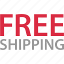 ecommerce, free, goods, shipping, shop, shopping icon