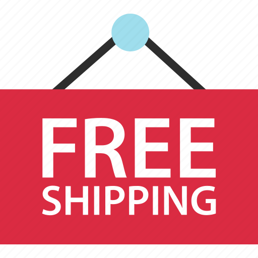 ecommerce, free, shipping, shop, shopping, sign icon