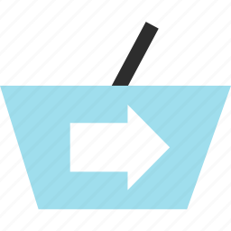 cart, checkout, ecommerce, go, hand, shop, shopping icon