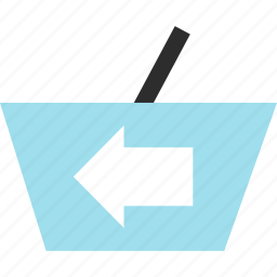 cart, ecommerce, hand, left, point, shop, shopping icon