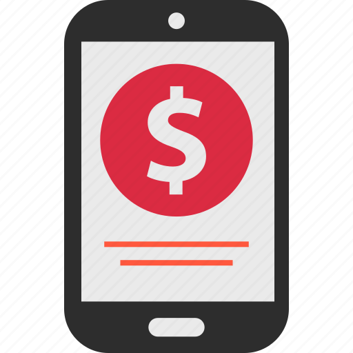 dollar, ecommerce, mobile, money, pay, shop, shopping icon
