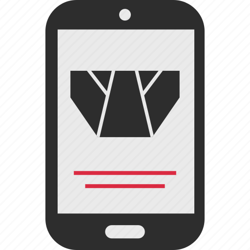 ecommerce, goods, mobile, shop, shopping, underwear icon