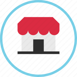 business, ecommerce, front, open, shop, shopping, store icon