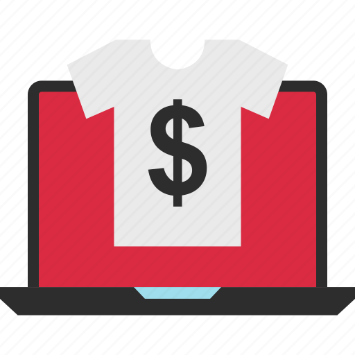 business, dollar, ecommerce, shop, shopping, sign, tee icon