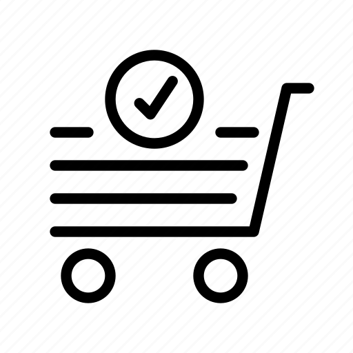 check, e-commerce, market, sell, shopping icon