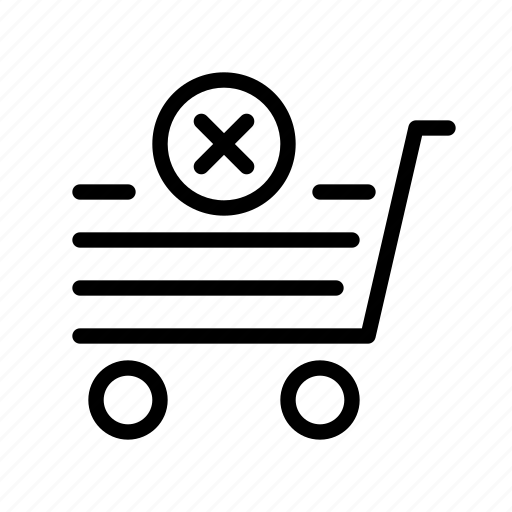 delete, e-commerce, market, sell, shopping icon