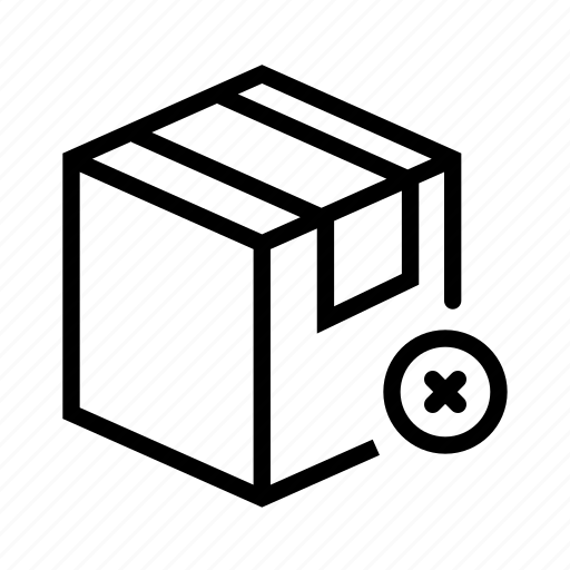 delete, e-commerce, package, shipping, shopping icon