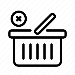 basket, delete, e-commerce, sell, shoping, shopping icon