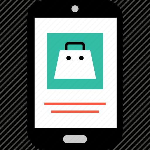 bag, ecommerce, item, mobile, online, shop, shopping icon