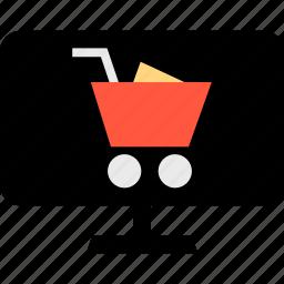 cart, ecommerce, online, pc, shop, shopping, web icon