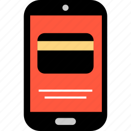 card, credit, ecommerce, mobile, online, shop, shopping icon