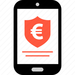 ecommerce, euro, online, secured, shield, shop, shopping icon