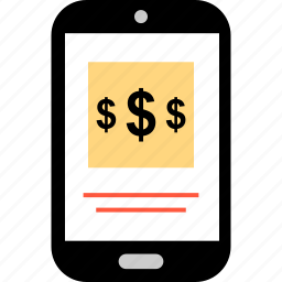 dollar, ecommerce, mobile, online, shop, shopping, sign icon