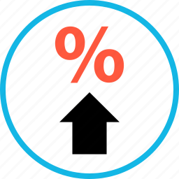 arrow, ecommerce, online, rate, shop, shopping, up icon