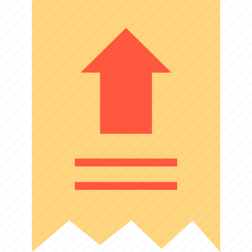 arrow, ecommerce, online, receipt, shop, shopping, up icon