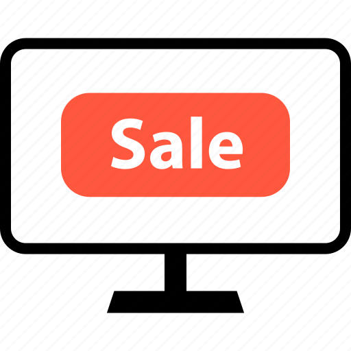 ecommerce, monitor, online, sale, shop, shopping, sign icon